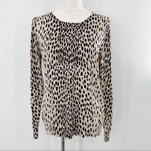 J. Crew mercantile leopard print cotton sweater